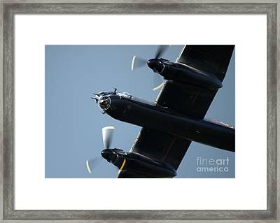 Avro Lancaster Framed Print by Angel  Tarantella
