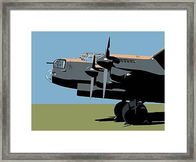 Avro Lancaster Bomber Framed Print by Michael Tompsett