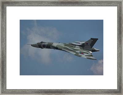 Framed Print featuring the photograph Avro Vulcan B2 Xh558 by Tim Beach