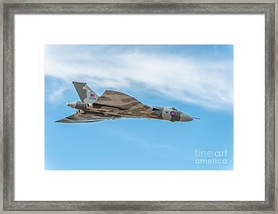 Avro Vulcan Xh558  Framed Print by Adrian Evans