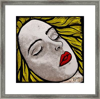 Awaiting A Kiss Framed Print by Valerie Lynn