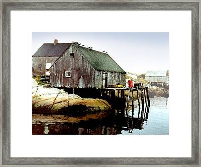 Awaiting The Catch Framed Print