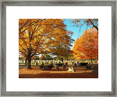 Awaiting Winter's Chill Framed Print