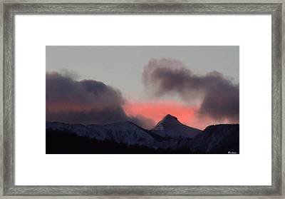 Awaken The Dawn Over Sheeps Head Peak El Valle New Mexico Framed Print