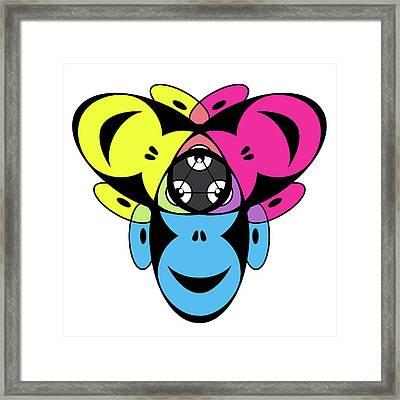 Awakened Ape Color Wheel Framed Print by Peter Piatt