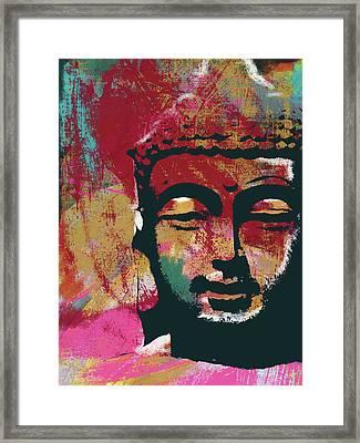 Awakened Buddha 4- Art By Linda Woods Framed Print