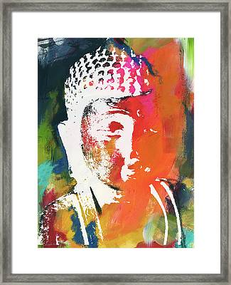 Awakened Buddha 5- Art By Linda Woods Framed Print