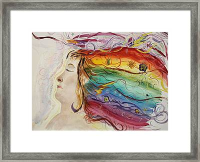 Framed Print featuring the painting Awakening Consciousness by Donna Walsh