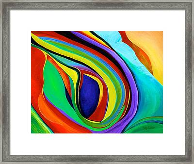 Framed Print featuring the painting Awakening by Polly Castor