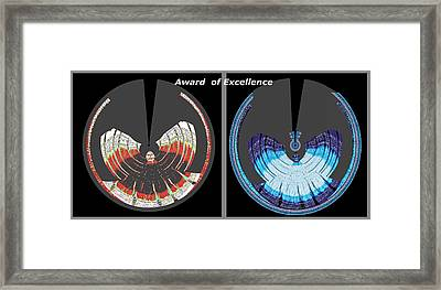 Award Of Excellence Graphic Signature Art By Navin Joshi Framed Print by Navin Joshi
