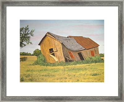Framed Print featuring the painting Award-winning Original Acrylic Painting - Now I Lay Me Down To Sleep by Norm Starks