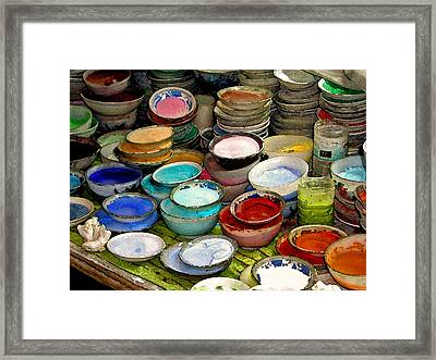 Awash In Color Framed Print