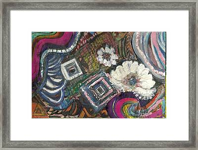 Away From The Lines Framed Print by Anne-Elizabeth Whiteway