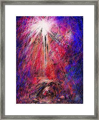 Away In A Manger Framed Print by Rachel Christine Nowicki