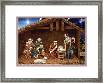 Away In The Manger Framed Print by Ron Chambers
