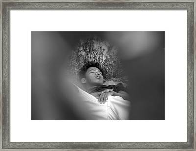 Away Into My Dreams And Hopes Framed Print by Jez C Self