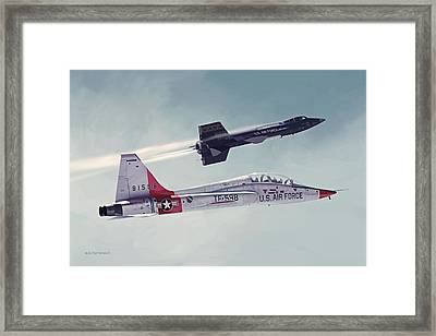 Away Framed Print