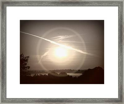 Awe Inspired Morning Framed Print by Cheryl Helms