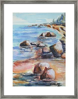 Awenda Shore Framed Print by Heather Kertzer