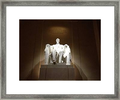 Awesome Abe Framed Print