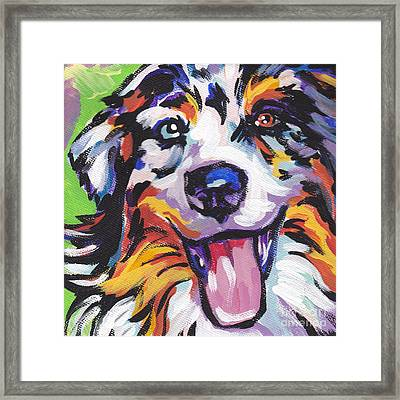 Awesome Aussie Framed Print by Lea S