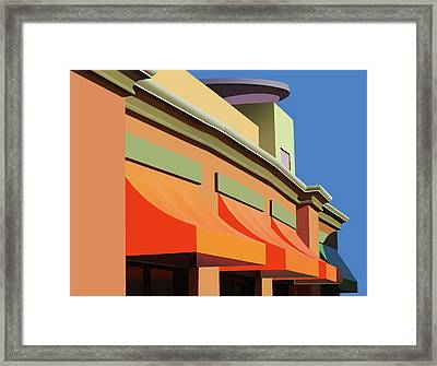 Awesome Awnings Framed Print by Nikolyn McDonald