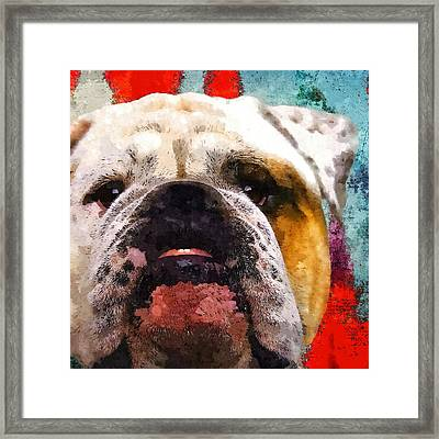 Awesome Face - Bulldog Framed Print by Stacey Chiew