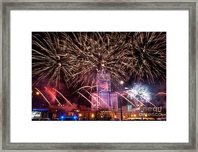 Awesome Fireworks At 22nd Gocc Framed Print
