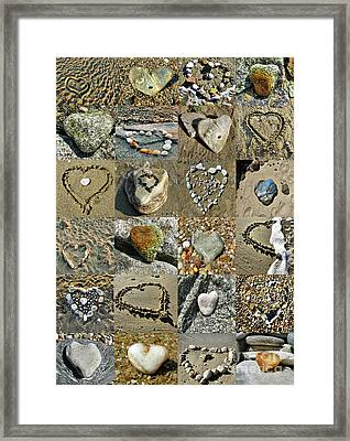 Awesome Hearts Found In Nature - Valentine S Day Framed Print