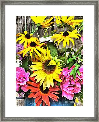 Awesome Mix Framed Print by Helene Guertin