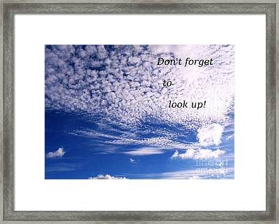 Awesome Sky And Cloud Formation Framed Print by Yali Shi