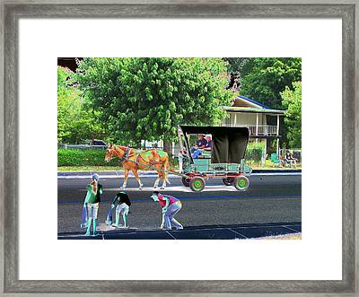 Awkward Moments Framed Print by Lee M Plate