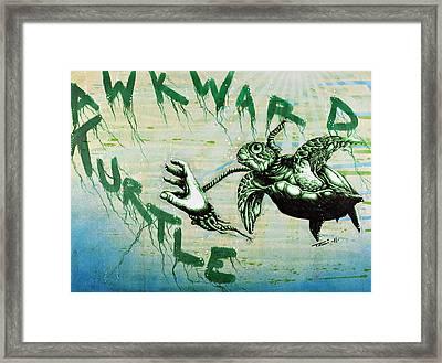 Awkward Turtle Framed Print by Tai Taeoalii