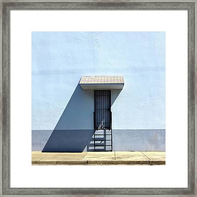 Awning Shadow Framed Print