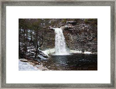 Awosting Falls In January #1 Framed Print by Jeff Severson