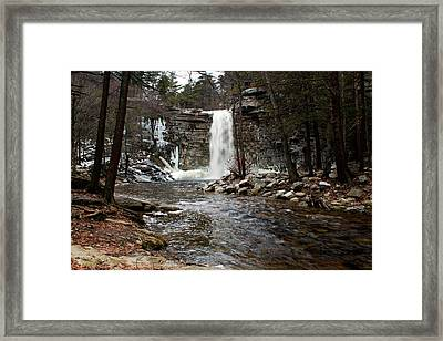 Awosting Falls In January #2 Framed Print by Jeff Severson