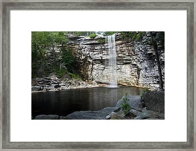 Awosting Falls In July II Framed Print