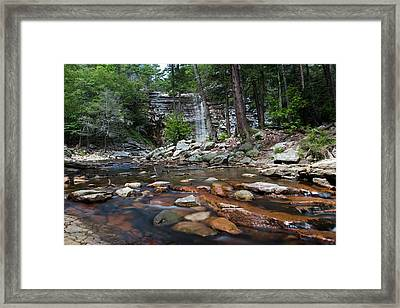 Awosting Falls In July Iv Framed Print by Jeff Severson