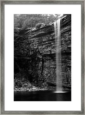 Awosting Falls In Spring #4 Framed Print