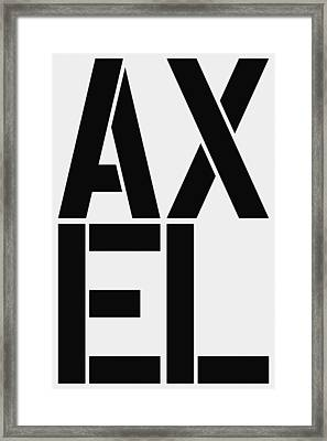 Axel Framed Print by Three Dots