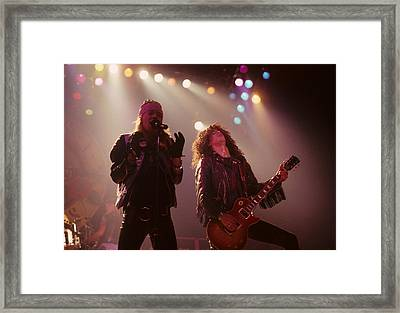 Axl Rose And Slash Framed Print