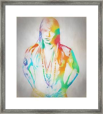 Axl Rose Framed Print