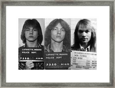 Axl Rose Mug Shots Through The Years Horizontal Photo Framed Print