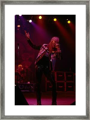 Axl Rose Of Guns N' Roses Framed Print