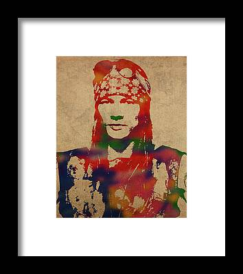 Axl Rose Framed Prints