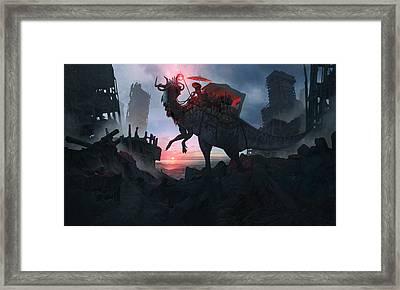 Ayanami Sunrider Framed Print by Guillem H Pongiluppi