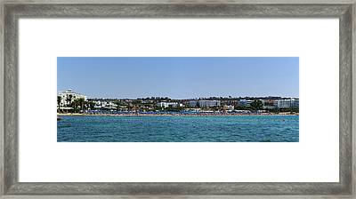 Ayia Napa Panorama Framed Print