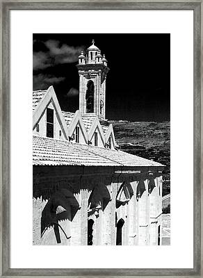 Ayios Neophytos Monastery View Framed Print by John Rizzuto