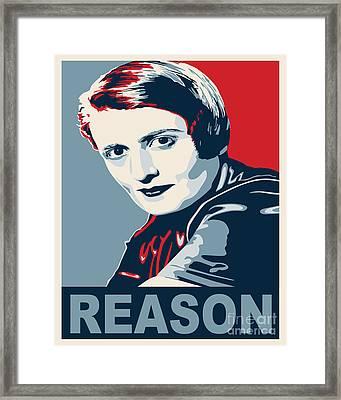 Ayn Rand Framed Print