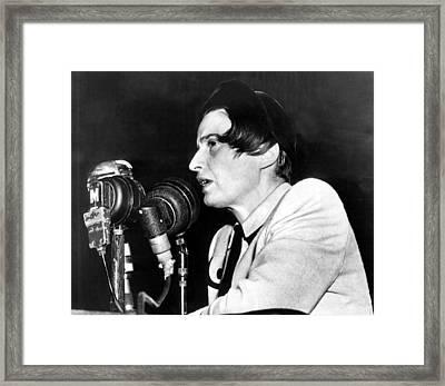 Ayn Rand Testifying Before House Framed Print